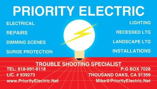 Thousand Oaks Exterior Lighting Business Card